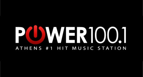 Power 100.1 - Athens #1 Hit Music Station Logo